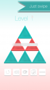 iOS Puzzle Game Triangle Flip Screen 1
