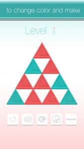 iOS Puzzle Game Triangle Flip Screen 2