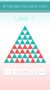 iOS Puzzle Game Triangle Flip Screen 3